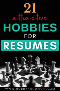 chess hobby on a resume