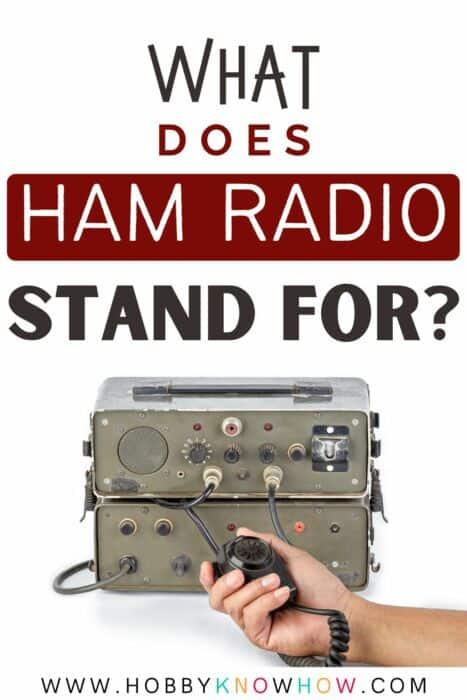 ham radio meaning