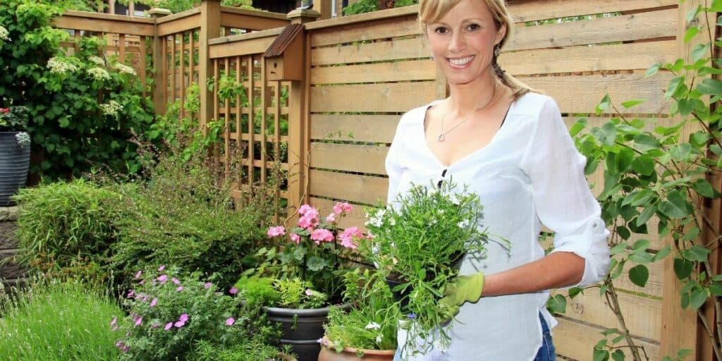 lady gardening for a hobby