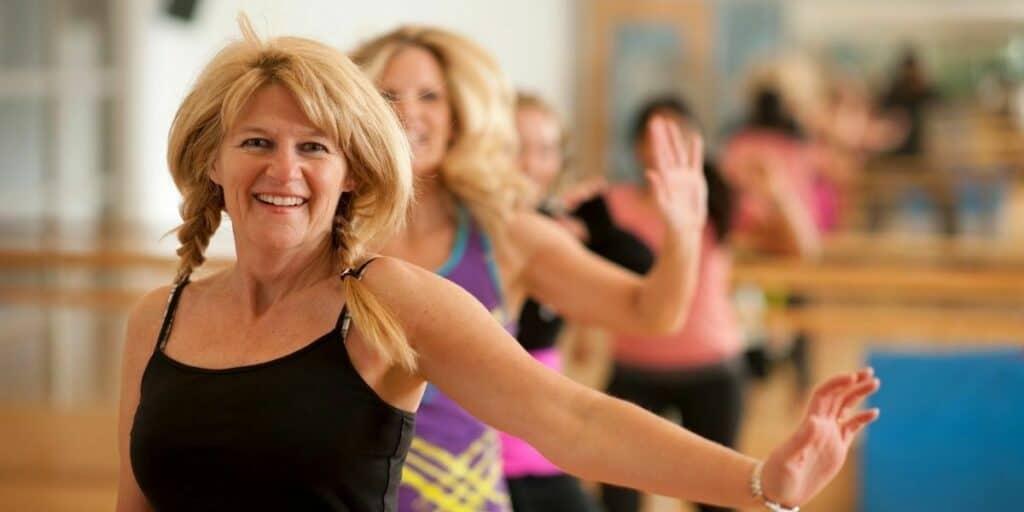 women in their 50s dancing