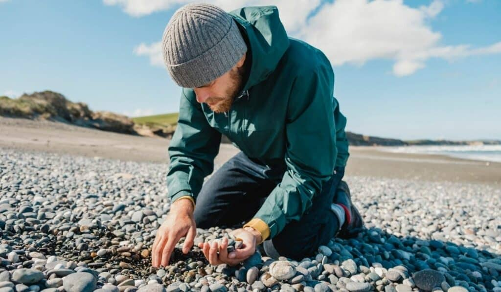 collecting pebbles