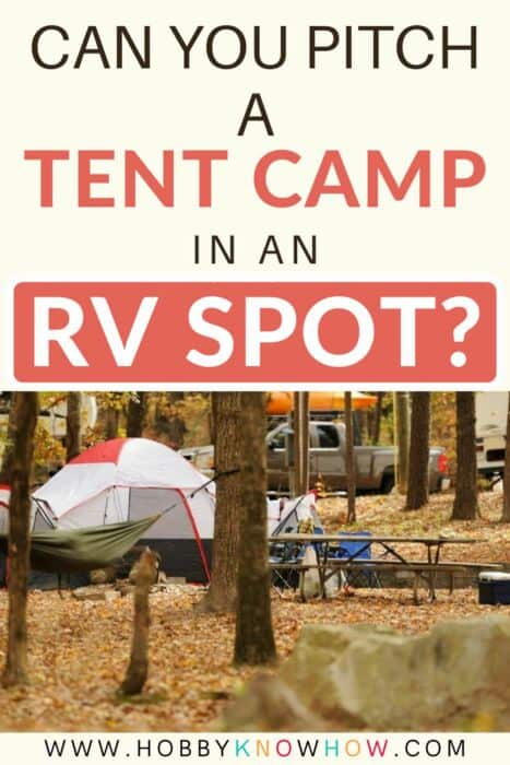 can you pitch a tent in rv spot