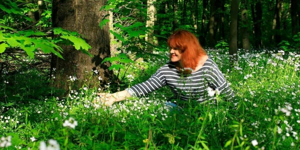 foraging for flowers
