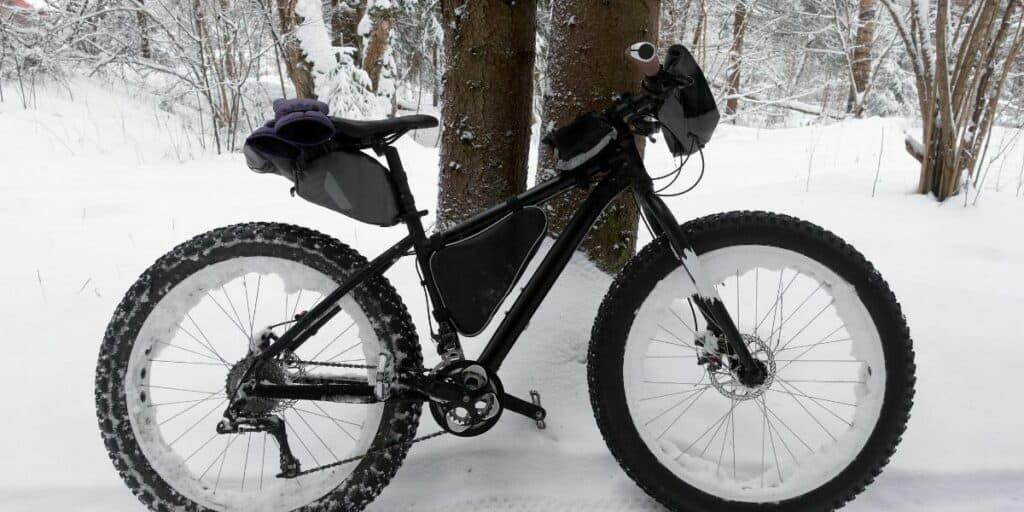 bikepacking in snow