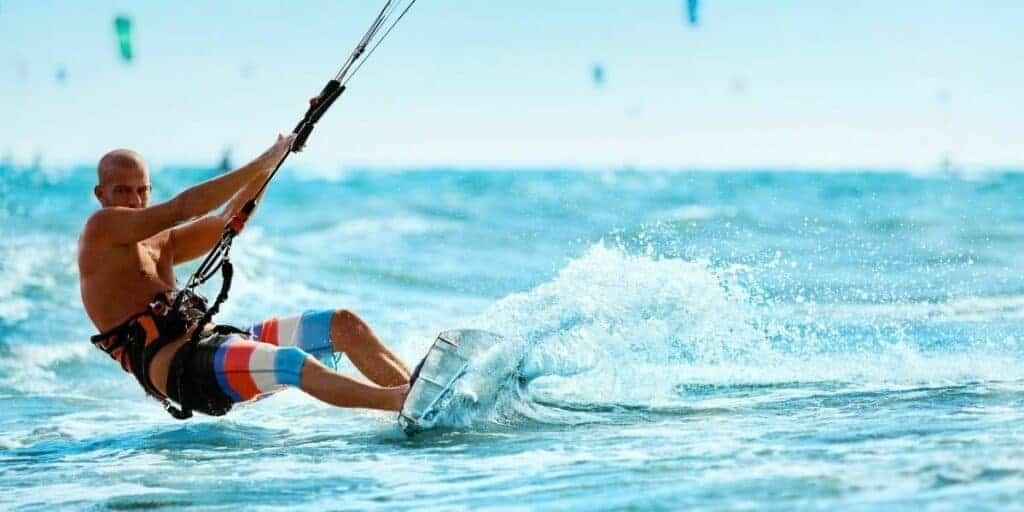 kite surfing hobby