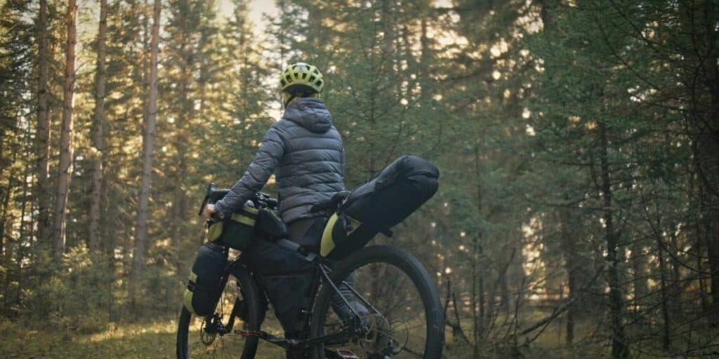 bikepacking in the rain