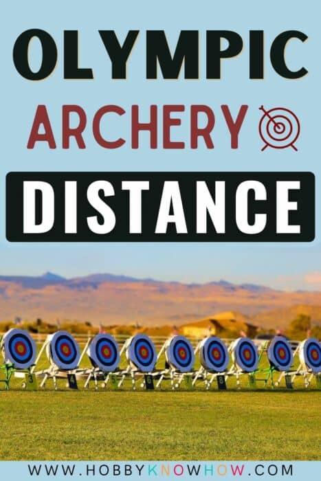 olympic archery distances