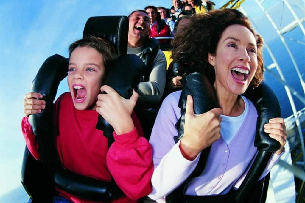 rollercoaster ride for thrill seekers