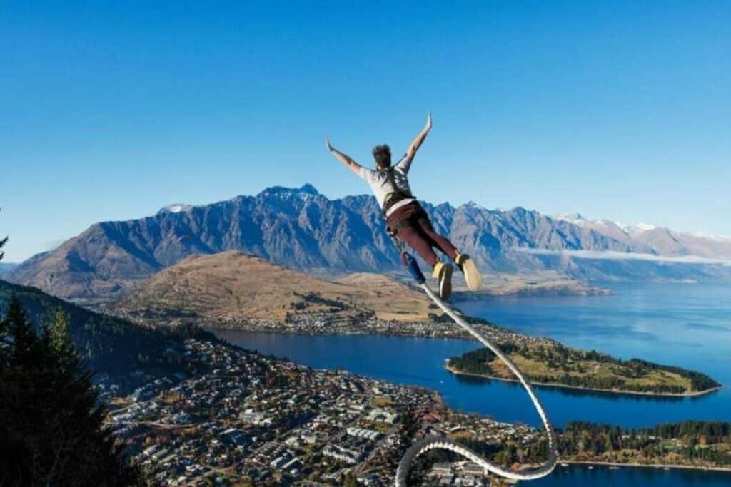 The ledge bungee jump