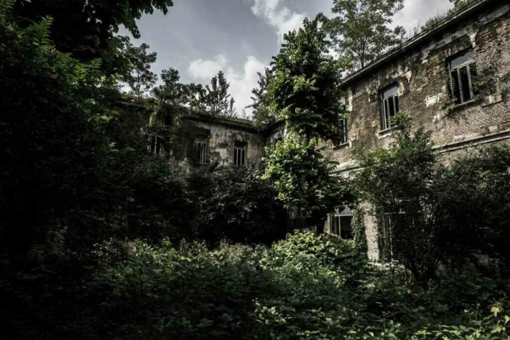 abandoned sanitarium